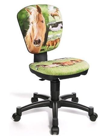 Topstar Kinder Drehstuhl Jet Pferd Horse, Schreibtischstuhl: Amazon ...
