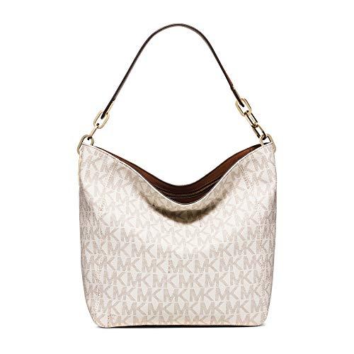 (Michael Kors Fulton Medium Leather Shoulder Bag-)