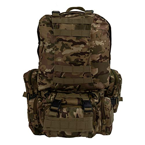 Military Tactical Army Large Backpack Hunting Hiking Camping Trekking Fishing Outdoor Sports Work Daypack BS016 (WD) from Saratoga Outdoor Equipment & Apparel Company