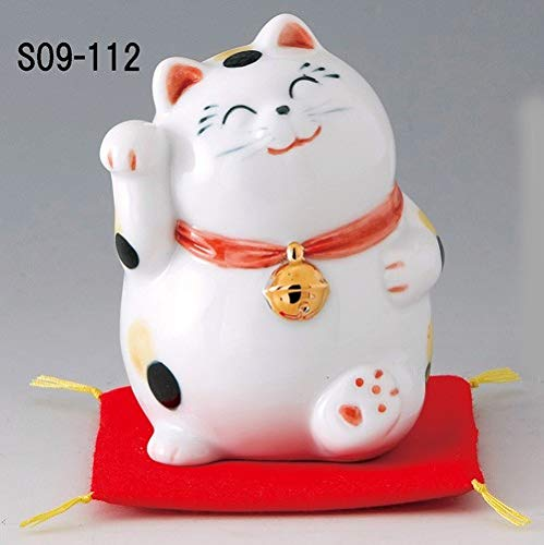 Matsumoto-Toki Fortune Welcoming Cat Pottery Interior Fuku Fuku S09-112