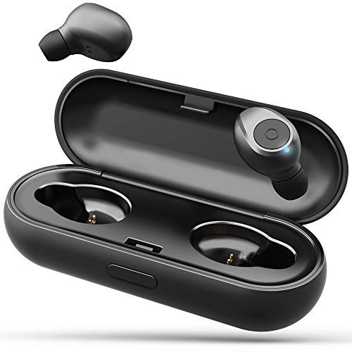 (L LINPA WORLD T1 Pro Bluetooth Earbuds Wireless Headphones Waterproof TWS 15H Playtime Hi-Fi 3D Stereo Sound Wireless Earbuds with Portable Charging Case(Black))