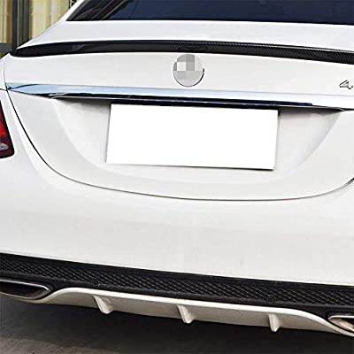 iJDMTOY (1 Universal PU Trunk or Roof Lip Spoiler or Roof Spoiler Body Kit Trim Sticker, 4.5ft (145cm/1.4m), Carbon Fiber Pattern: Automotive