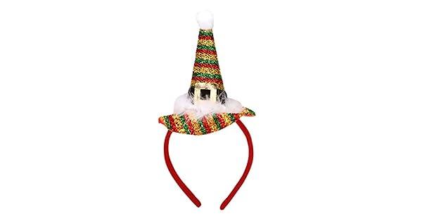 Amazon.com: LIULIULIUU - Diadema de Papá Noel, para adultos ...