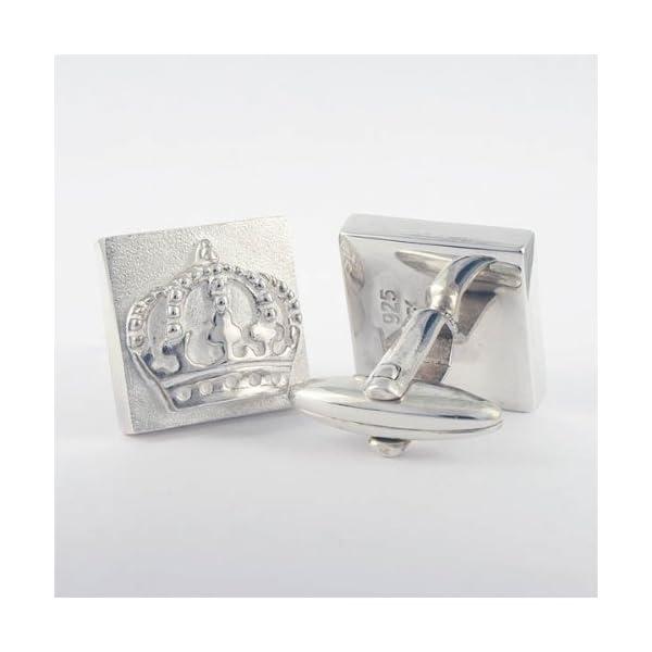 ZAUNICK-Square-Crown-Cufflinks-Sterling-Silver