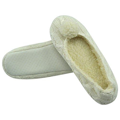 Pantofole Da Donna Da Passeggio Con Suola Interna Morbida Antiscivolo Bianca