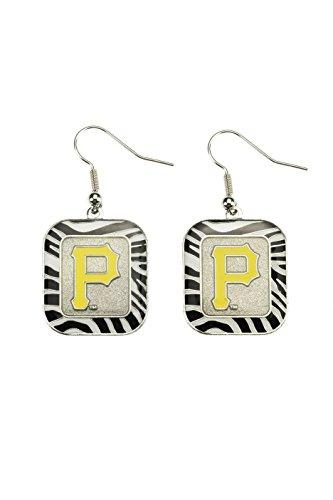 MLB Pittsburgh Pirates Zebra Earrings