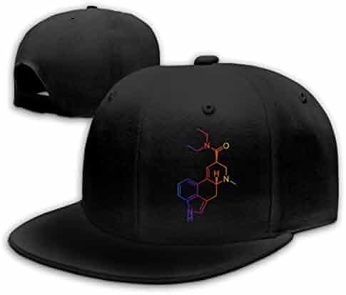d73194da128 LANGEGE LSD Molecule Acid Psychedelic Chemistry Baseball Cap Classic  Adjustable Plain Hat for Men and Women