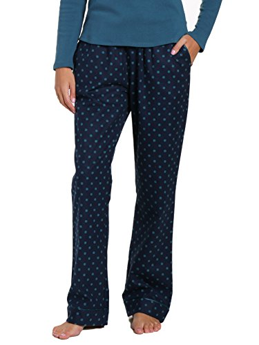Premium Flannel Lounge Pant - Dots Diva Blue - Small ()