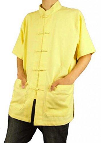 Maßgeschneidertes Tai Hemd Golden aus Leinen Chi Premium 108 Handgefertigt Goldenes rfwxqRr