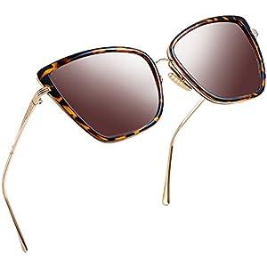 Joopin Fashion Cat Eye Sunglasses Women Retro Transparent Frame Brand Sun Glasses(Leopard)