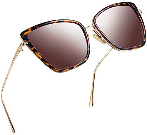 Joopin Fashion Cat Eye Sunglasses Women Retro Transparent Frame Brand Sun Glasses(Leopard)