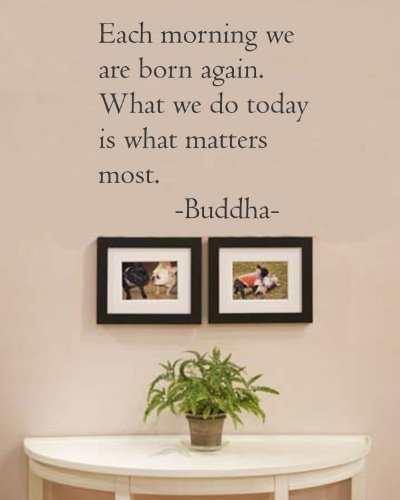 Each-morning-we-are-born-again-What-we-do-today-is-what-matters-most-Buddha-Vinyl-wall-art-Inspirational-quotes-and-saying-home-decor-decal-sticker
