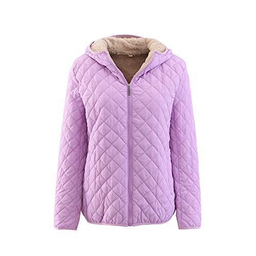 Women's Regular Cotton Suit Plus Zipper Zipper Solid Color Warm Jacket PK/2XL