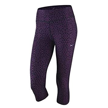 Nike Women's Star Glass Epic Run Capri 3/4 Length Tights, Cosmic Purple,