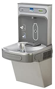 LZS8WSSK EzH2O Wall Mount Drinking Fountain with Bottle Filler Station, Stainless Steel