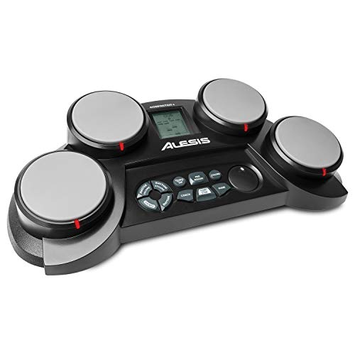 Alesis Ultra-Portable Electronic 4 Tabletop Kit with Velocity-Sensitive Pads, 70 Sounds, Coaching Feature, Game…