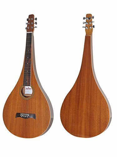 Guitar Steel Lap Acoustic (ADM Teardrop Shape Acoustic Weissenborn Style Lap Steel Guitar)