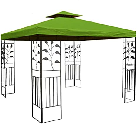 habeig WASSERDICHTER Pavillon TOSKANA 3x3m Metall inkl. Dach Festzelt wasserfest Partyzelt (Waldgrün)