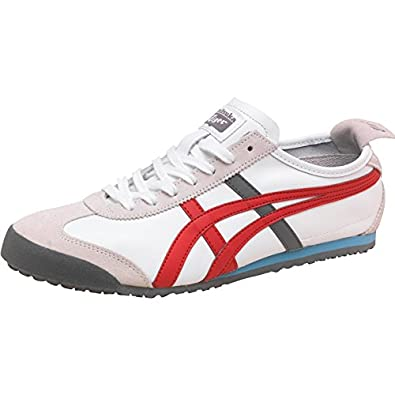 pretty nice 89521 0b67f Mens Onitsuka Tiger Mens Mexico 66 Trainers White/Fiery Red ...