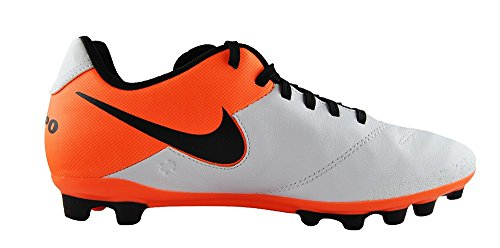 Black White s Men Football Orange AG Blanco Shoes NIKE Tiempo total Competition Genio Leather II Cq17Uw1