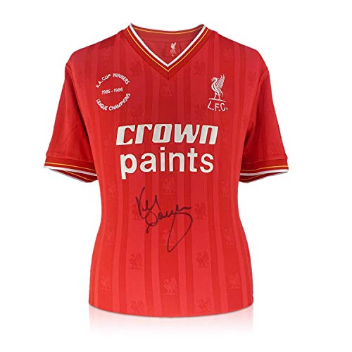(Kenny Dalglish Signed 1985-86 Liverpool Home Jersey | Autographed Memorabilia)