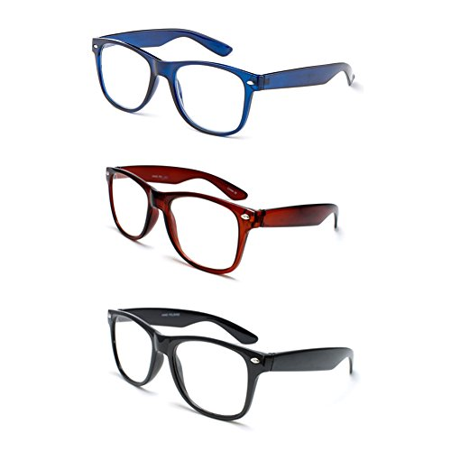 Newbee Fashion - IG Wayfarer Style Comfortable Stylish Simple Reading - Black Stylish Glasses