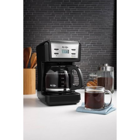 Mr. Coffee 12-Cup Black Programmable Coffee Maker with ...