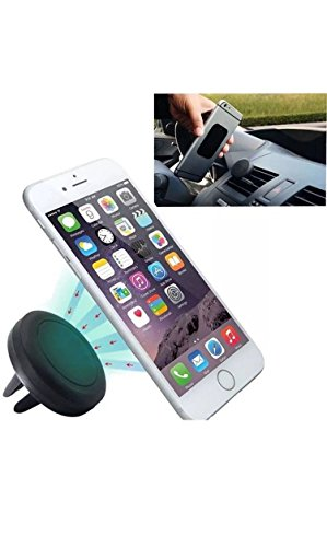 Price comparison product image Car Mount,  Magnetic Air Vent Universal Mobile Cell Phone Holder for Any Smartphone including iPhone 6 Plus,  Samsung Galaxy S6 / S5 Edge,  Note,  Nexus,  LG,  HTC,  Android,  and Garmin GPS (Air Vent Mount)