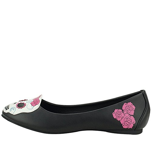 Dead u Of The Day Women's k Shoes Flats Black T Skull wxZdRqUx8