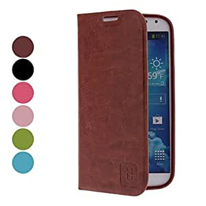 MOVSOINA PU Leather Case for Samsung Galaxy S4 I9500 (Assorted Colors) - COLOR#Rose