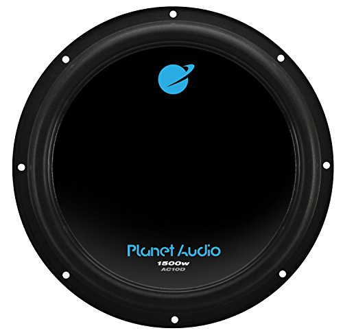 Planet Audio AC10D 1500 Watt, 10 Inch, Dual 4 Ohm Voice Coil Car Subwoofer (Audio Car 10)