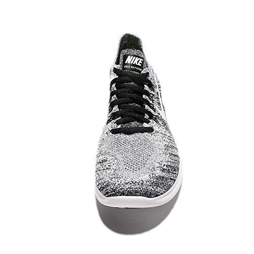 ... Femmes Nike Libre Rn Flyknit 2017 Chaussure De Course Noir / Blanc Volts