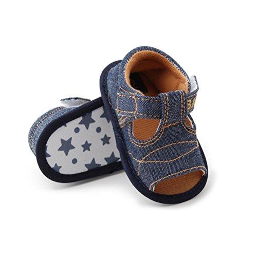 Tefamore Sandalias Zapatos Bebé De Cuna Suave Niños Niñas Recién Nacido(Una variedad de estilos y colores) C