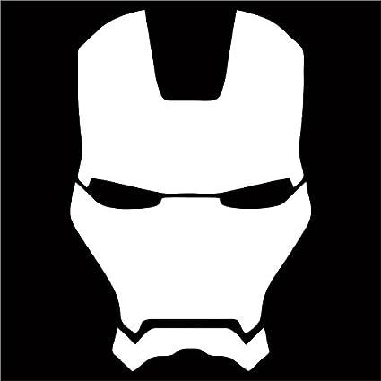 Amazon com: Cove Signs Iron Man Vinyl Decal/Sticker - White 4
