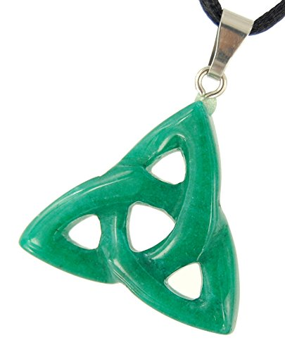 Power Pack Series - 30mm Triquetra Celtic Knot New Jade (Aventurine) Green - 20