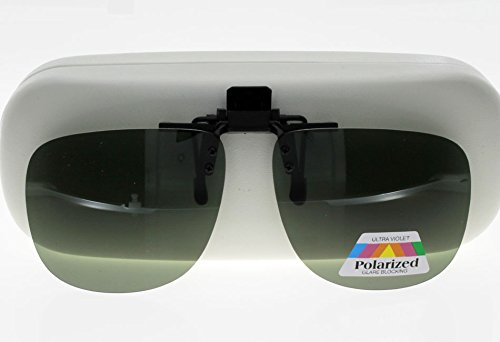 CLIP Sur-lunettes Vert polarisé Grande Taille TwCbg