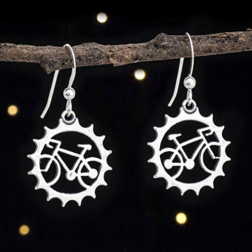 Sterling Silver Bicycle Earrings made our list of gifts for active women so if you want unique camping gifts for her, you'll find tons of them in our hand-selected list of gift ideas for women who hike, fish and camp!