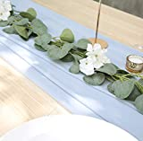 UNIQOOO 27.5 x 118 Inches Chiffon Table Runner