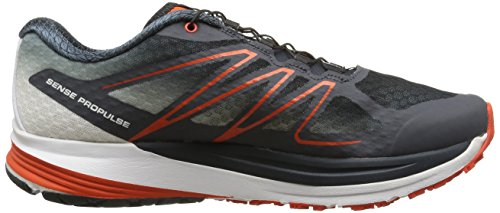Salomon Herren, Sneaker, sense propulse Schwarz (Deep Blue/Grey Denim/Tomato Red)