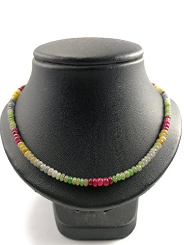 Multi Colored Sapphire Necklace,Natural sapphire necklace,Sapphire Necklace,multi color sapphire necklace jewelry,Real sapphire necklace,September Birthstone, Size ()