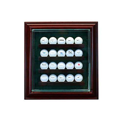 Moulding Cabinet Doors (20 Golf Ball Cabinet Style Display Case with Hinged Door and Suede Backing)