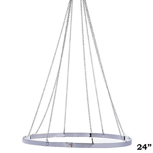 BalsaCircle 24-Inch Ceiling Draping Canopy Hoop Metal Hardware Kit for 4 Panels - Wedding Ceremony Reception Party Home - Ceiling Draping Wedding