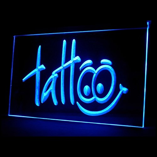 100002 Tattoo Piercing Shop Get Inked Art Japanese Display LED Light Sign