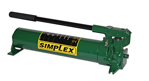 Simplex P82A Steel Compact Hand Pump for Single Acting Cylinder, 134 cu in Oil Reservoir Capacity, 10000 PSI, Green (Pumps Simplex Hand)