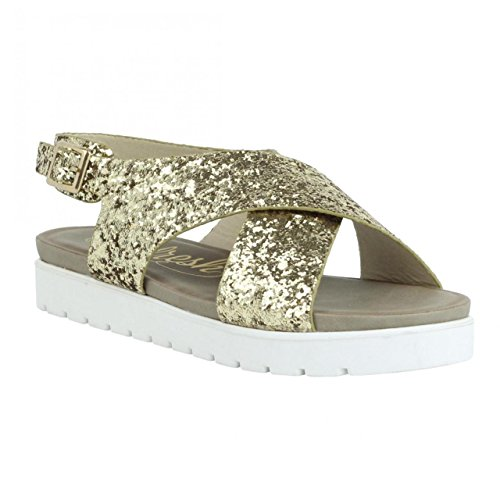 61796 Femme Sandales Oro Pour Refresh Glitter zYqptwxtC