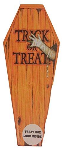2 Medium Coffin Treat or Treat Box (Coffin Shaped Halloween Gift Box)