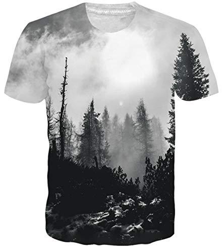 Adicreat 3D Digital Printed T-Shirt Short Sleeves Blouse Casual Summer Tees for Men Women XL ()