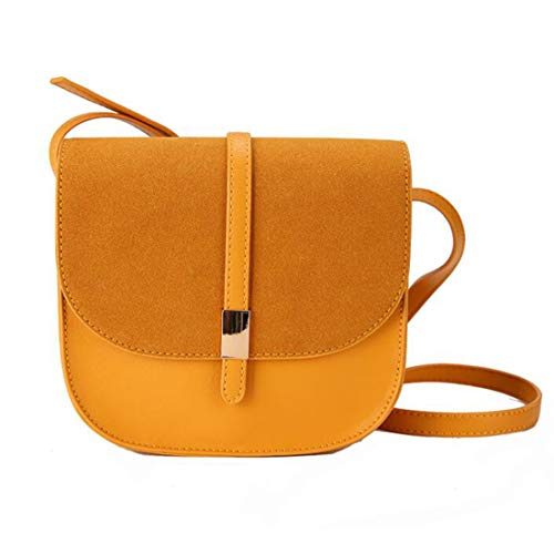 Women's Shoulder Leather MALLTY PU Back Bag Color Shoulder Bag Mini Large Angle Yellow Capacity Yellow zPwCPq