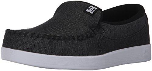 DC Men's Villain TX Skate Shoe,Black/Charcoal,11 D US