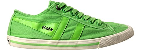Gonna Womens Quote Stone Wash Sneaker Verde